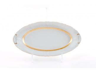 Блюдо овальное 39см Leander Соната Золотая лента декор 1239