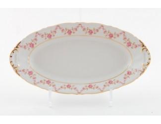 Блюдо овальное 55,5см Leander Соната Мелкие цветы декор 0158