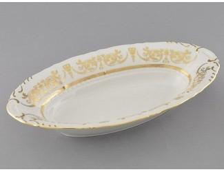 Блюдо для хлеба 33см Leander Соната Золотой орнамент декор 1373