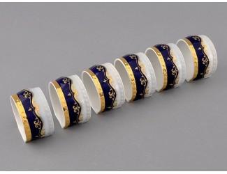 Кольцо для салфеток 1 шт Leander Соната Мелкие цветы (Кобальт) декор 0440