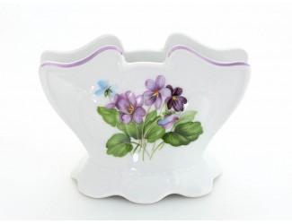 Подставка для салфеток 8,5см Leander Соната Лиловые цветы декор 2391 07114621-2391