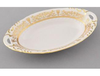 Блюдо овальное 17см Leander Соната Золотой орнамент декор 1373