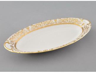 Блюдо овальное 23см Leander Соната Золотой орнамент декор 1373