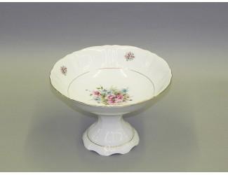 Ваза для фруктов на ножке 23см Leander Соната Розовые цветы декор 0013 07116155-0013