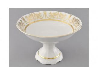 Ваза для фруктов на ножке 23см Leander Соната Золотой орнамент декор 1373 07116155-1373