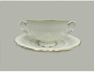 Чаша для супа на подставке 350мл Leander Соната Отводка золото декор 1139