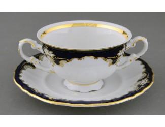 Чашка для супа 350мл Leander Соната Кобальтовый орнамент декор 1357 07120624-1357