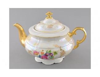 Чайник 1,50л Leander Соната Цветы перламутр декор 0656