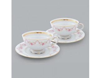 Набор из двух чайных пар 0,20л Leander Мелкие цветы декор 0158
