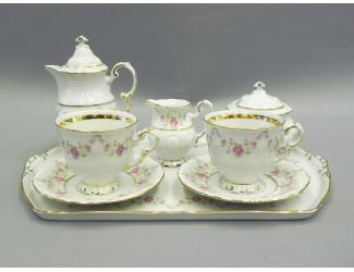 Кофейный сервиз на 2 персоны 8 предметов Leander Соната Мелкие цветы декор 0158