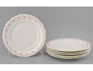 Набор тарелок мелких 6шт 25см Leander Соната Мелкие цветы декор 0158