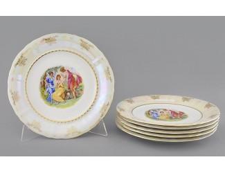 Набор тарелок мелких 25см Leander Соната Мадонна перламутр, декор 0676