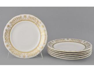Набор тарелок мелких 6шт 25см Leander Соната Золотой орнамент декор 1373