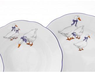 Набор тарелок 18 предметов  Leander Соната Гуси декор 0807