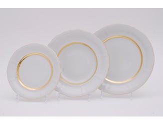 Набор тарелок 18 предметов Leander Соната Золотая лента декор 1239