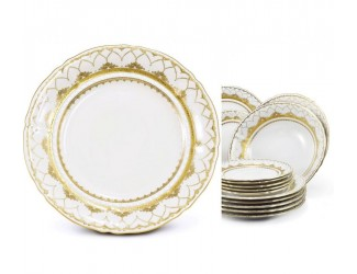 Набор тарелок 18 предметов  Leander Соната Золотая чешуя декор 2517 07160119-2517