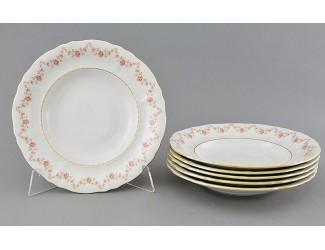 Набор тарелок глубоких 6шт 23см Leander Соната Мелкие цветы декор 0158