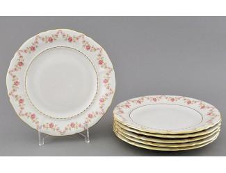 Набор тарелок десертных 6шт 17см Leander Соната Мелкие цветы декор 0158
