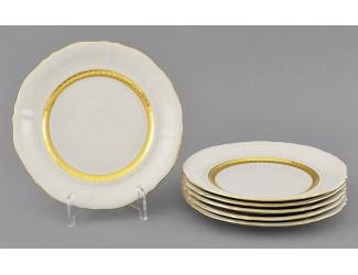 Набор тарелок десертных 6шт 17см Leander Соната Золотая лента декор 1239