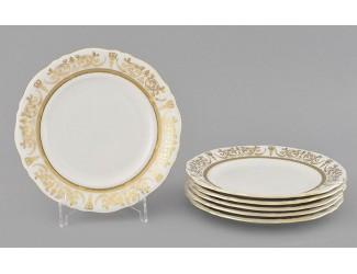 Набор тарелок десертных 6шт 17см Leander Соната Золотой орнамент декор 1373
