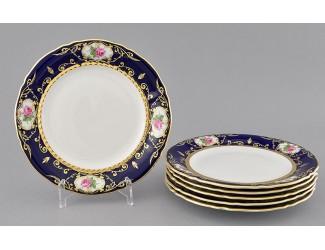 Набор тарелок десертных 6шт 19см Leander Соната Мелкие цветы (Кобальт) декор 0440
