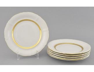 Набор тарелок десертных 6шт 19см Leander Соната Золотая лента декор 1239