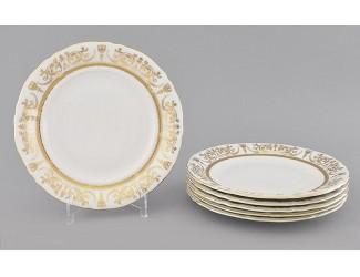 Набор тарелок десертных 6шт 19см Leander Соната Золотой орнамент декор 1373