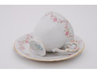 Набор кофейных пар на 6 персон 12 предметов 0,15л Leander Соната Мелкие цветы декор 0158