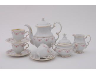Сервиз кофейный 15 предметов 6 персон 0,15л Leander Соната Мелкие цветы декор 0158