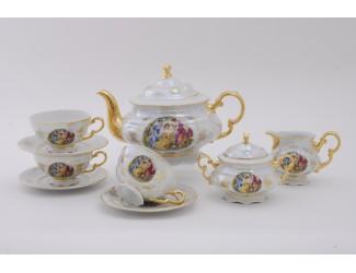 Сервиз чайный 15 предметов 6 персон  Leander Соната Мадонна перламутр декор 0676 07160725-0676