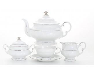 Сервиз чайный 27 предметов 12 персон Leander Соната отводка платина декор 1138