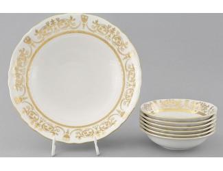 Набор салатников 7 предметов Leander Соната Золотой орнамент декор 1373 07161416-1373