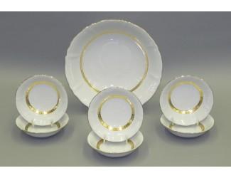 Набор салатников 7 предметов Leander Соната Золотая лента декор 1239
