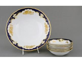 Набор салатников 7 предметов Leander Соната Золотая роза кобальт декор 1457 07161417-1457