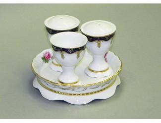 Набор для приправ 4 предмета Leander Соната Мелкие цветы (Кобальт) декор 0440 07162512-0440
