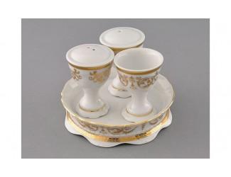 Набор для приправ 4 предмета Leander Соната Золотой орнамент декор 1373 07162512-1373
