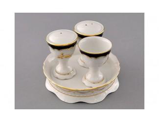 Набор для приправ 4 предмета Leander Соната Золотая роза кобальт декор 1457 07162512-1457
