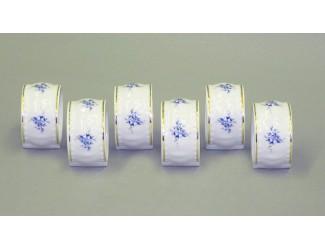 Набор колец для салфеток 6предм. Leander Соната Голубые цветы