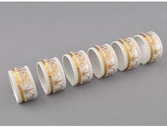 Набор колец для салфеток 6шт Leander Соната Золотой орнамент декор 1373 07164612-1373