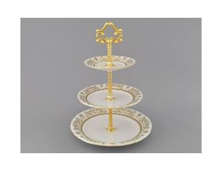 Горка 3 уровня Leander Соната Золотой орнамент декор 1373 07196032-1373