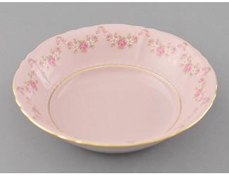 Салатник 16см Leander Соната Мелкие цветы декор 0158 розовый фарфор