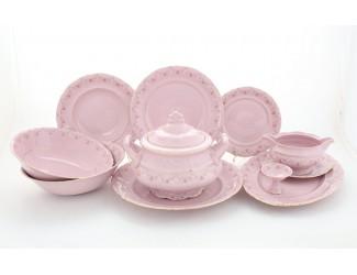 Сервиз столовый 25 предметов 6 персон Leander Соната Мелкие цветы, розовый фарфор 0158