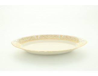 Блюдо овальное глубокое 23см Leander Соната Золотой орнамент декор 1373 слоновая кость 07516125-1373