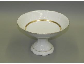 Тарелка для фруктов на ножке 23см Leander Соната Золотая лента декор 1239