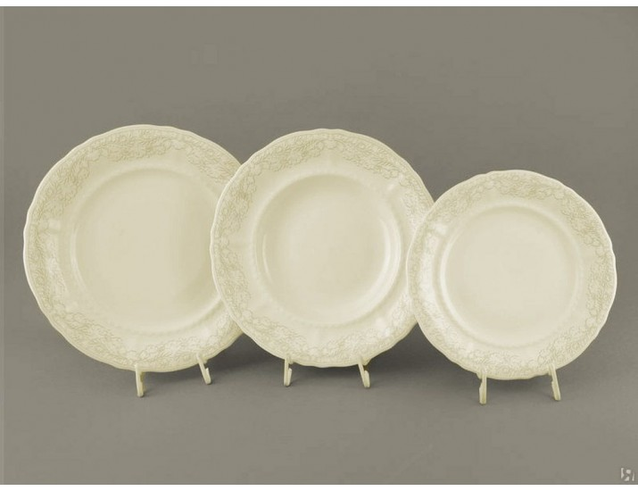 Набор тарелок 18 предметов Leander Соната Серый узор 07560119-3002