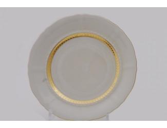 Набор тарелок десертных 6шт 19см Leander Соната декор 1239 Золотая лента слоновая кость