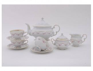 Сервиз чайный 15 предметов 6 персон Leander Соната Мелкие цветы декор 0158