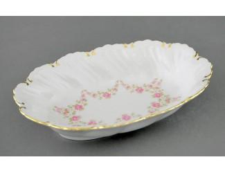 Блюдо овальное глубокое 18,5см Leander Фелиция Мелкие цветы декор 0158