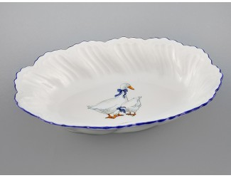 Блюдо овальное глубокое 18,5см Leander Мэри-Энн Гуси декор 0807