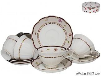Набор чайных пар на 6 персон 12 предмета Lenardi Венок 105-295